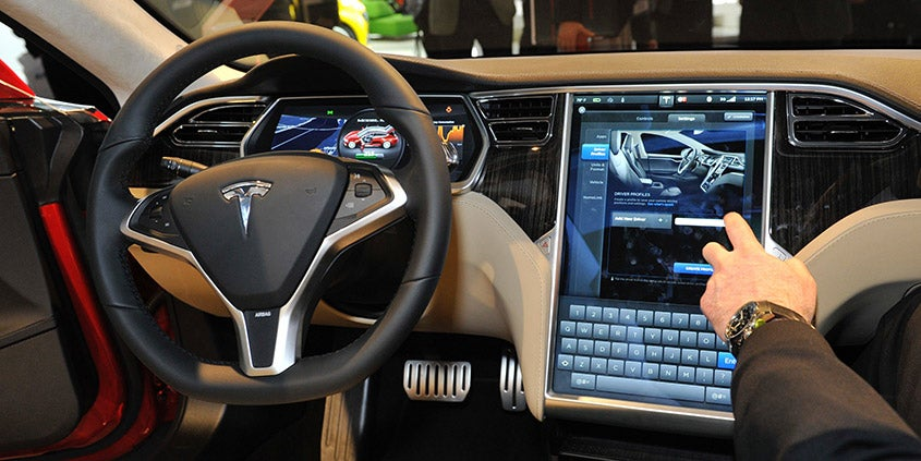 Tesla S Model interior
