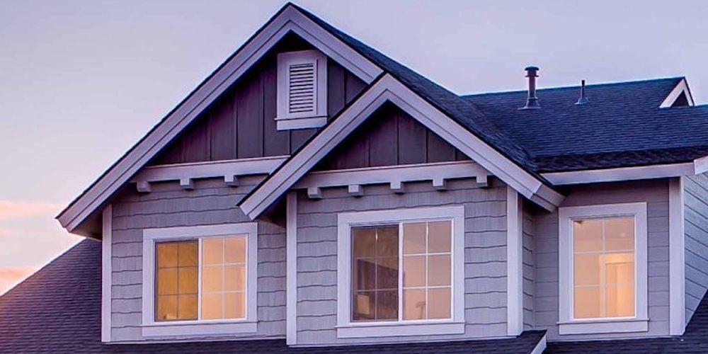 Dormers on a suburban home