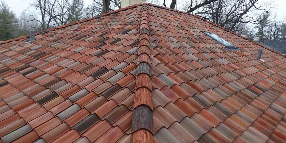Spanish tiles on a residential home