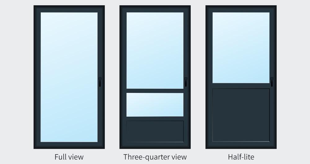 ProVia storm door styles side by side