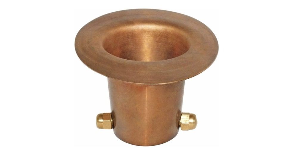 Copper rain chain cup
