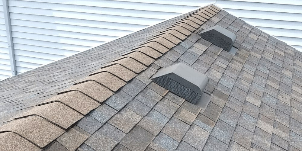 Box vents on a residential roof