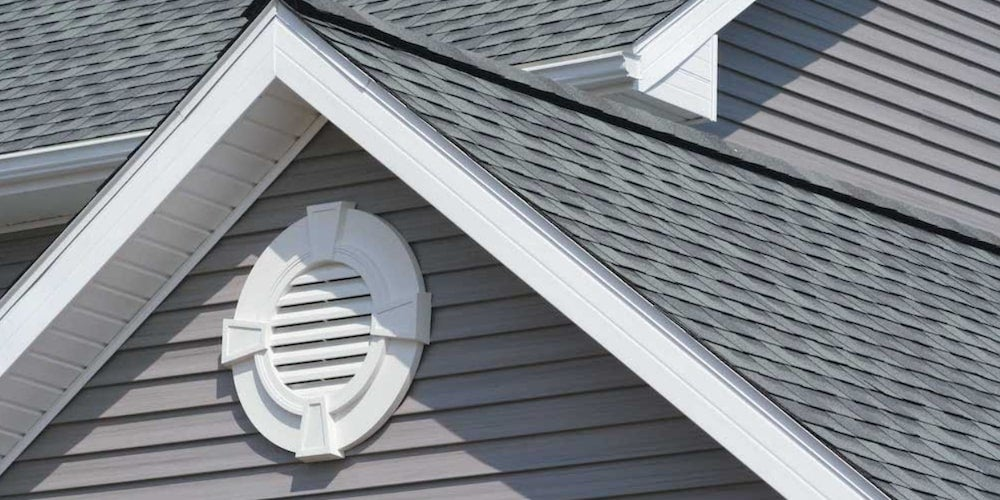 Gable vents on a residential roof