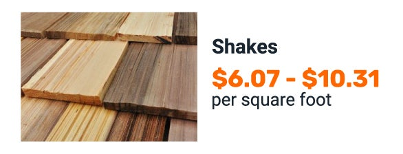 Wooden shake cost