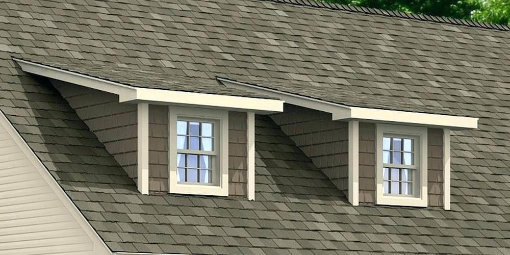 Shed dormer on a residential home
