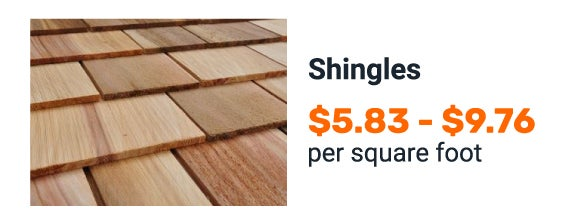 Wooden shingle cost