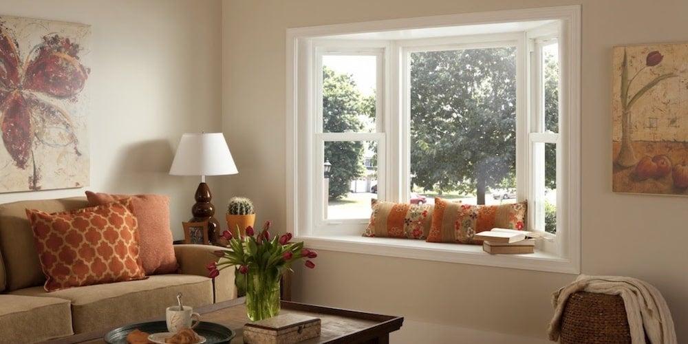 Simonton bay windows in a living room