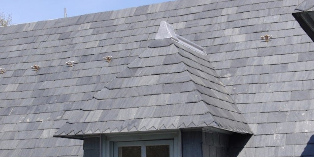 Slate roofing on a residential roof