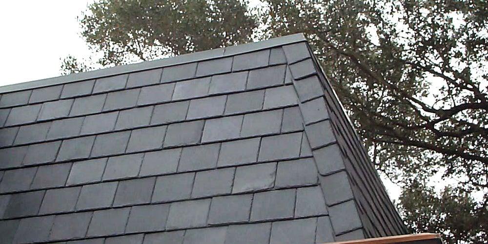 Slate tiles on a residential home