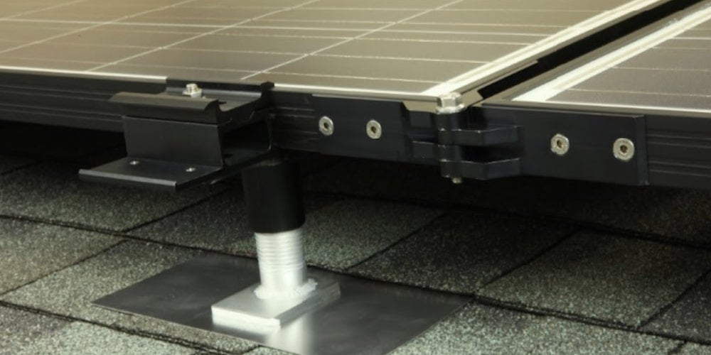 Rail-less racking system on a roof