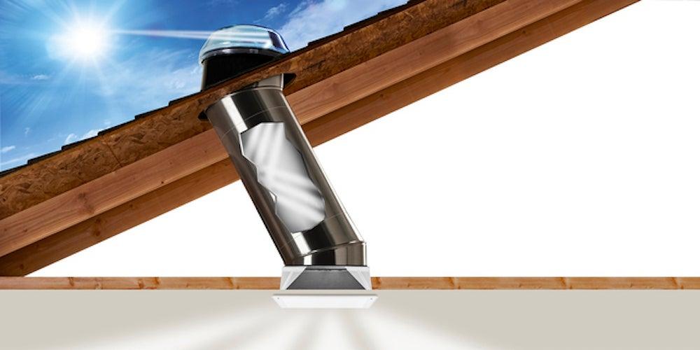 Illustration of a tubular skylight