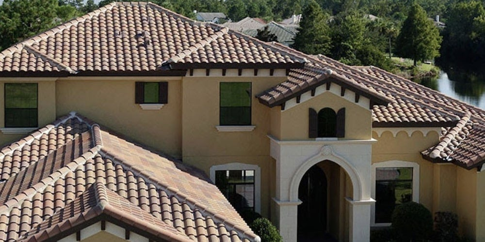 Costly concrete roof tiles