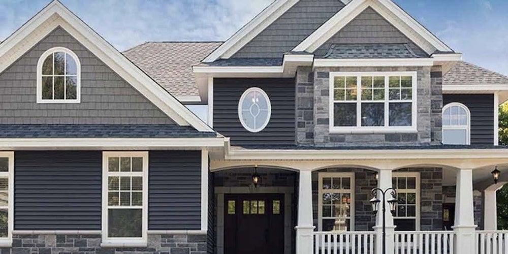 Versatile siding on a suburban home