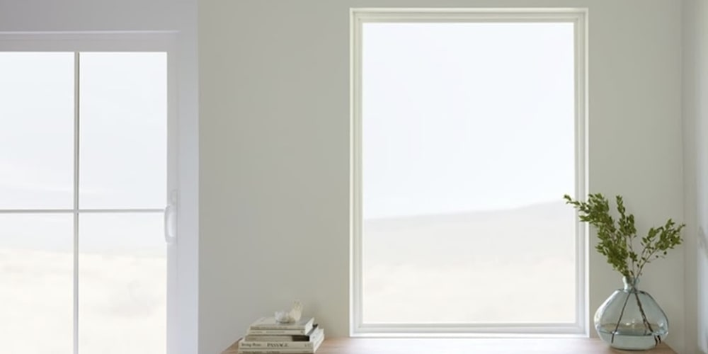 Vinyl picture window in a home
