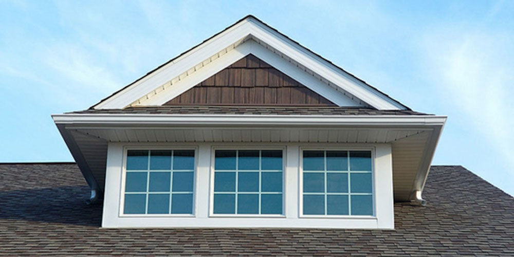 Dormer roof structure on a residential home