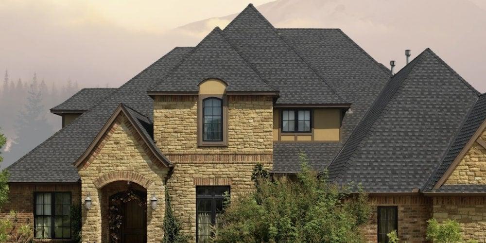 GAF shingles on a suburban home