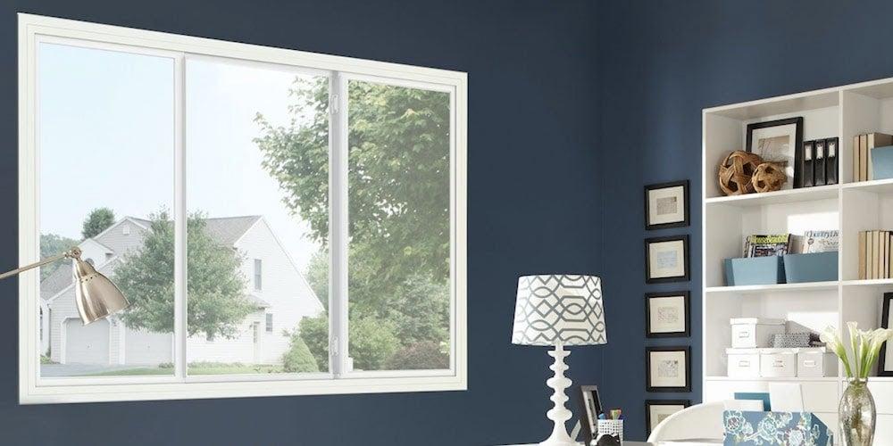 WinGuard PGT window installed in a bedroom