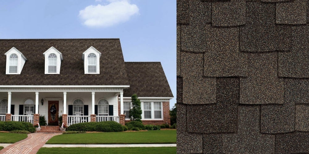 Woodcrest shingles on a residential home