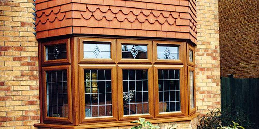 Wood bay window on a residential home