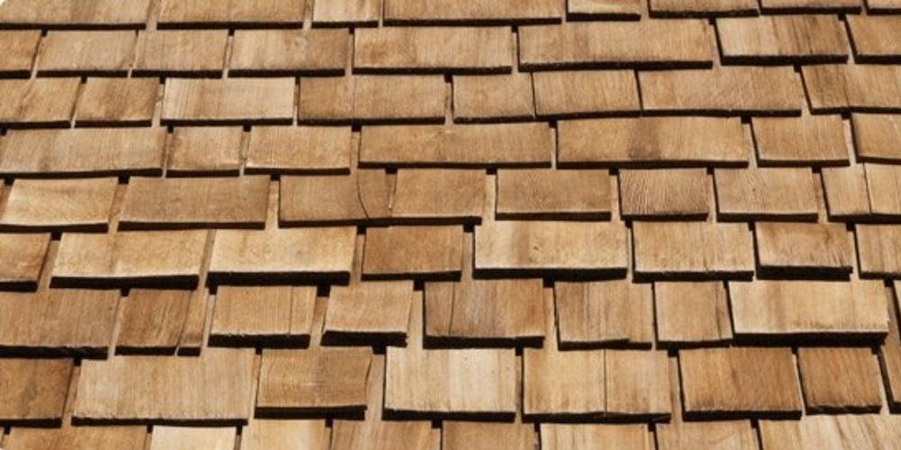 Set of wooden shingles