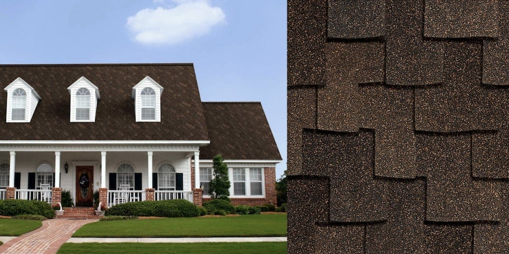 Woodmoor shingles on a residential home
