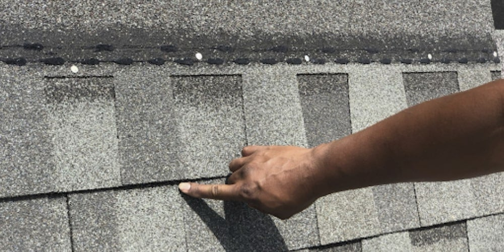 Professionally installed roof shingles