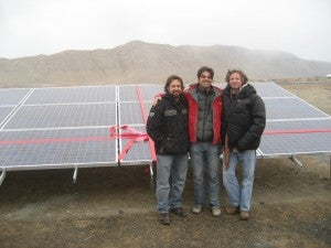 Array dedication at Gerlach schools, photo by Black Rock Solar
