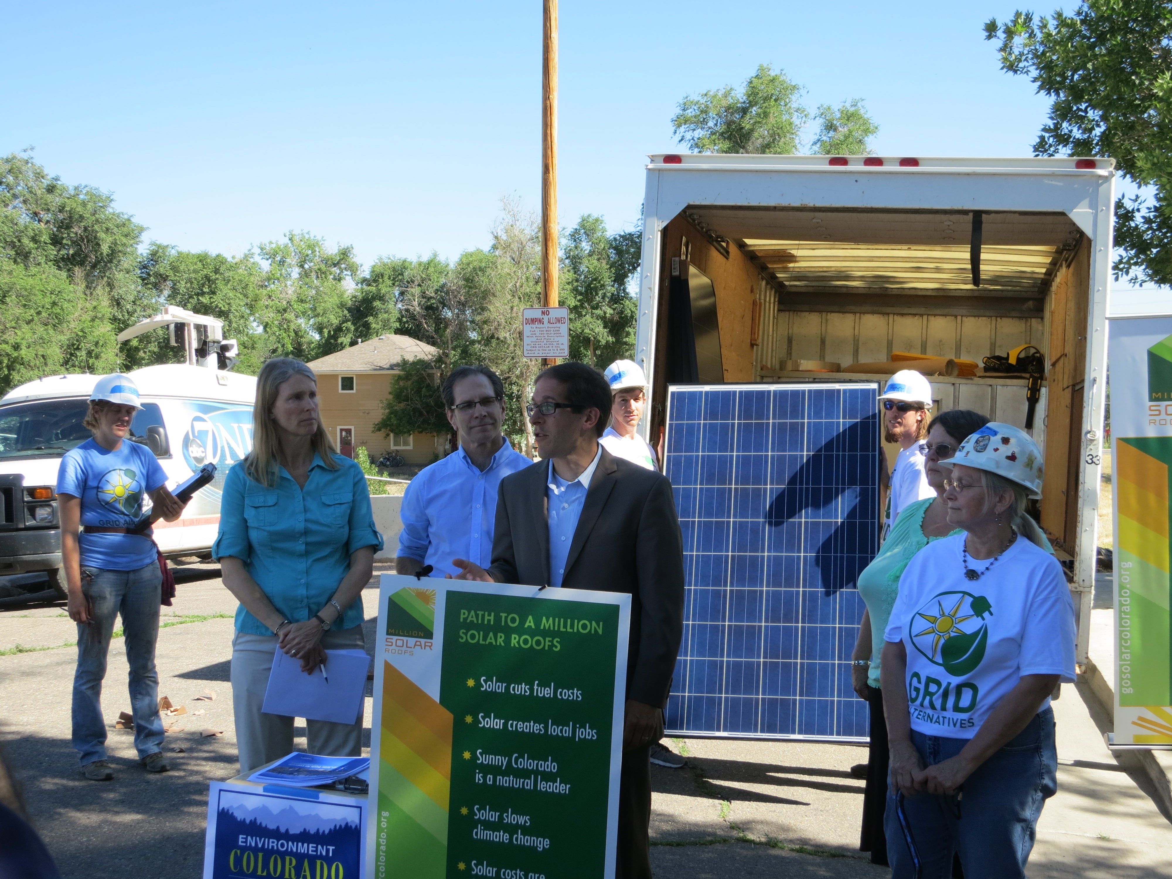 Colorado House Speaker Mark Farrendino at Launch of Colorado's Million Solar Rooftops campaign.