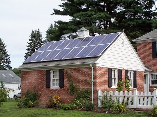 A residential solar installation in Connecticut. Courtesy NREL.