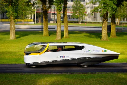 Stella, world's first solar-powered family car. Photo: Bart van Overbeeke.