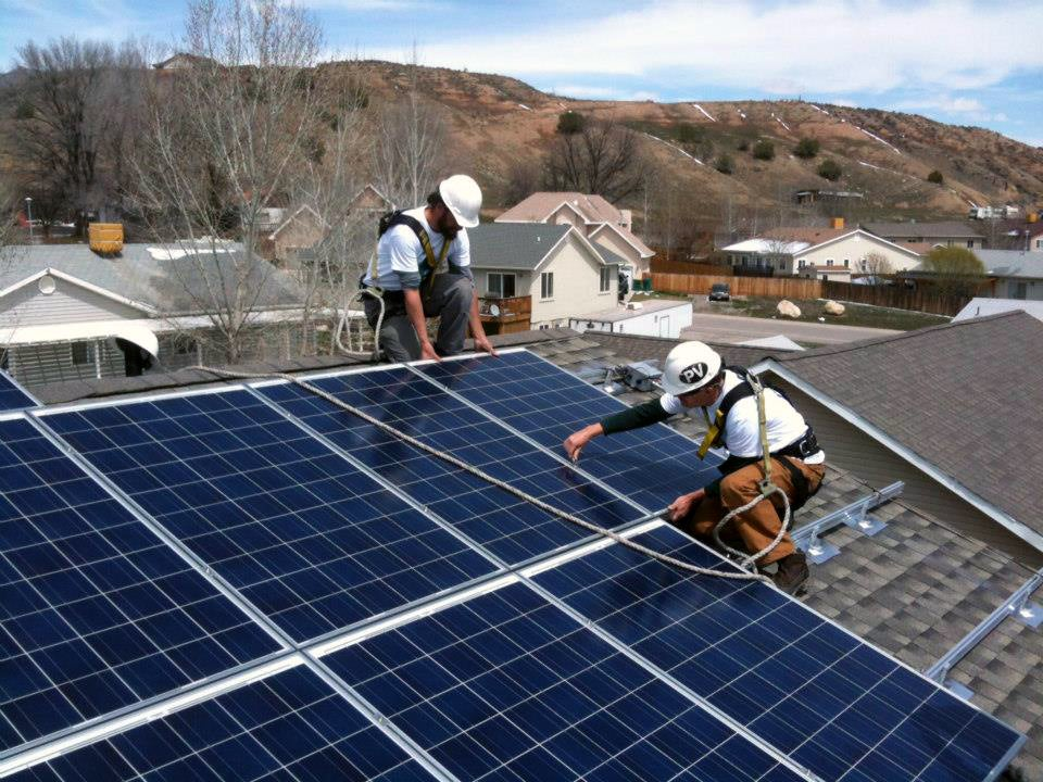 Sunsense Solar installs a rooftop array on the Western Slope