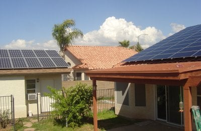 A solar home in Arizona. Courtesy Arizona Solar Center.