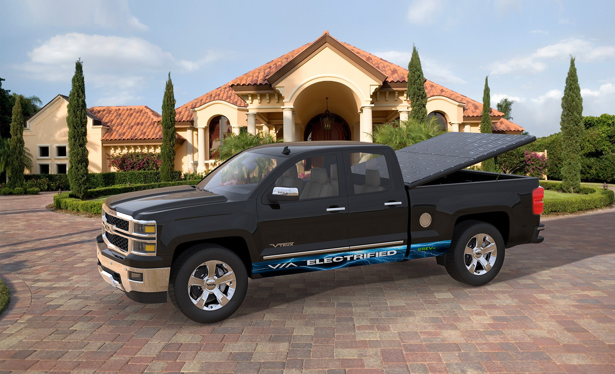 Via Motors Introduces Solar Powered Truck Bed Covers