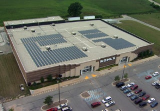 Solar at a Kohl's store