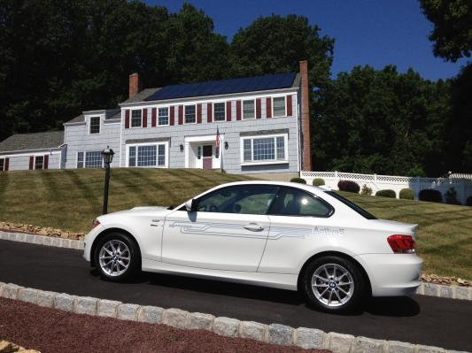 A SunPower-ed home with EV BMW