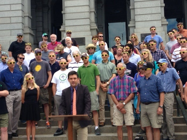 Solar Supporters at Colorado's Capitol. Courtesy TASC