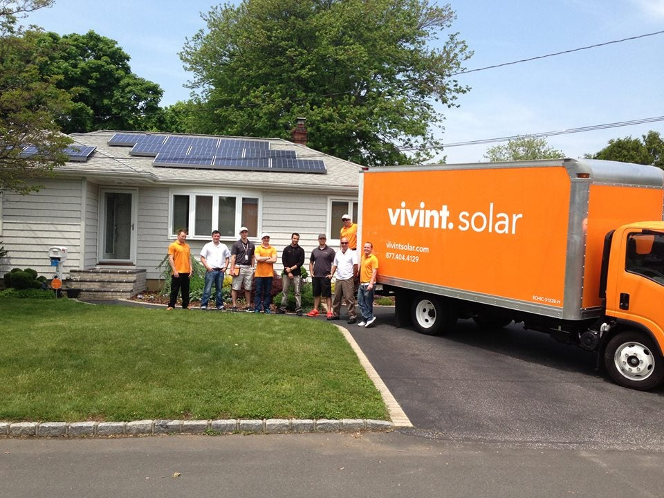 Vivint Solar installation in Long Island. Courtesy Vivint's Facebook page.