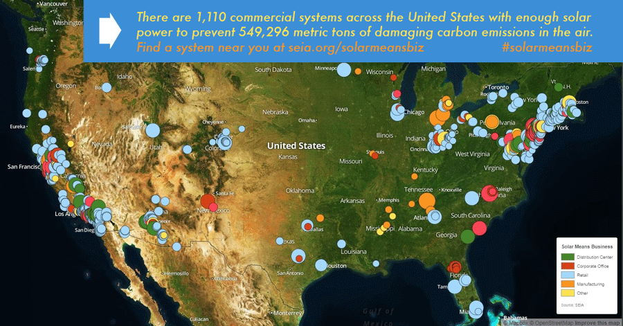 US Sees More Than MWs Of New CommercialScale Solar Power - Solar power map us