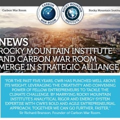 Branson's Carbon War Room Merges with Rocky Mountain Institute to Fight Climate Change
