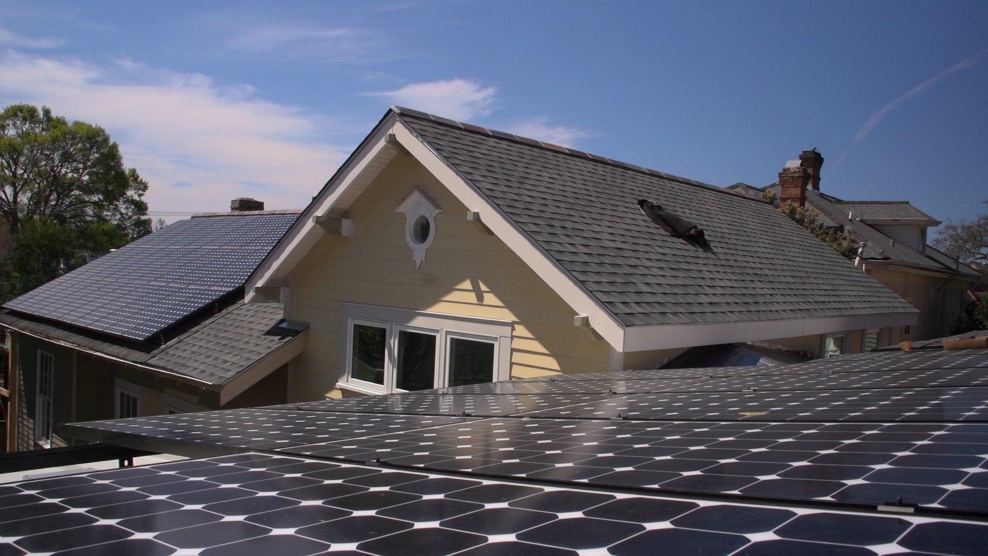 Solar on a rooftop in Louisiana. Courtesy GSREIA