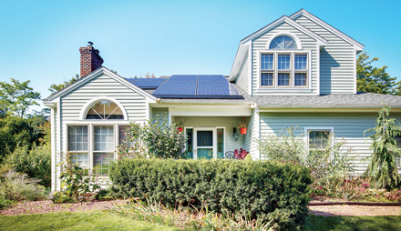 A SolarCity home installation. Courtesy SolarCity