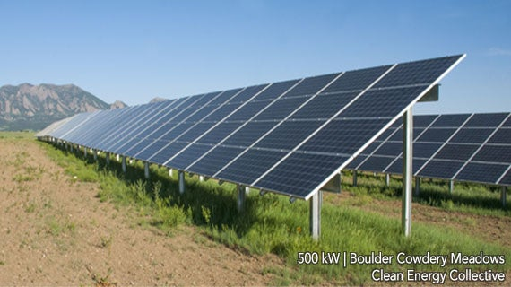Clean Energy Authority's community solar farm in Boulder, CO. Courtesy CEC