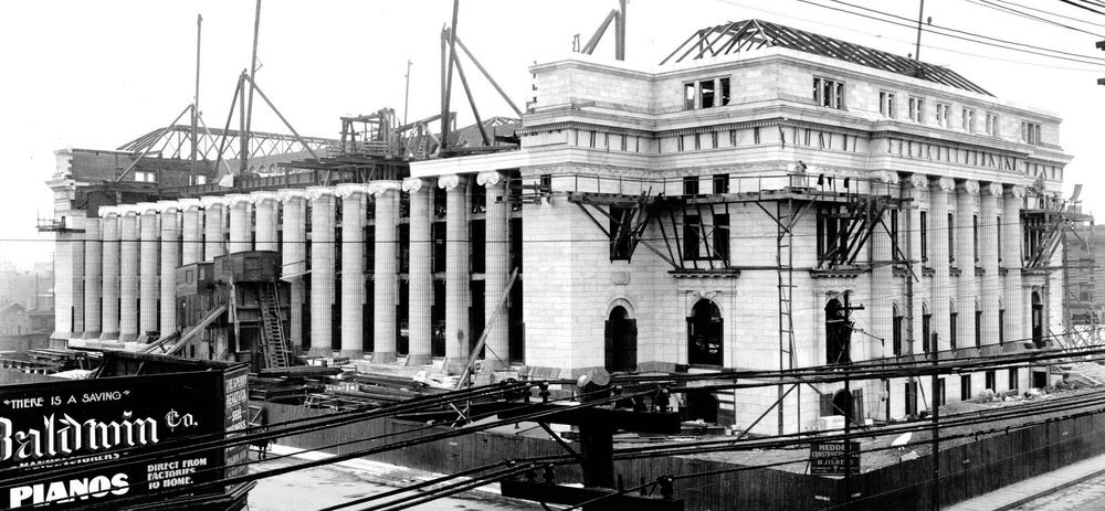 The 10th Court of Appeals under construction. Courtesy Tenth Circuit Historical Society.