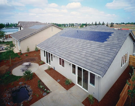 A solar-powered home on California. Courtesy NREL
