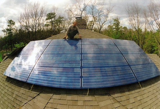 Solar being installed on a New Jersey home. Courtesy NREL.