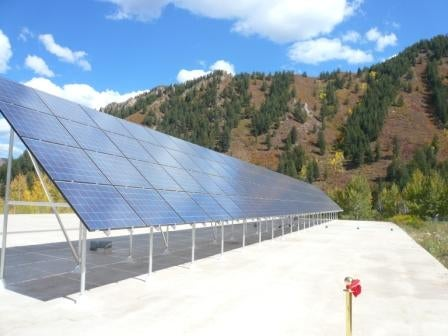 Aspens' PV array at its water treatment plant. Courtesy Aspen