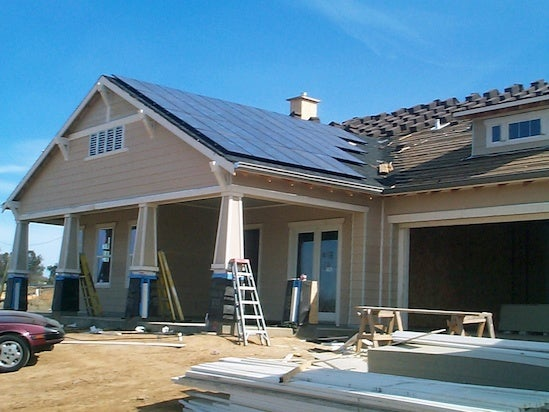 Solar being installed on a home in California. Courtesy NREL
