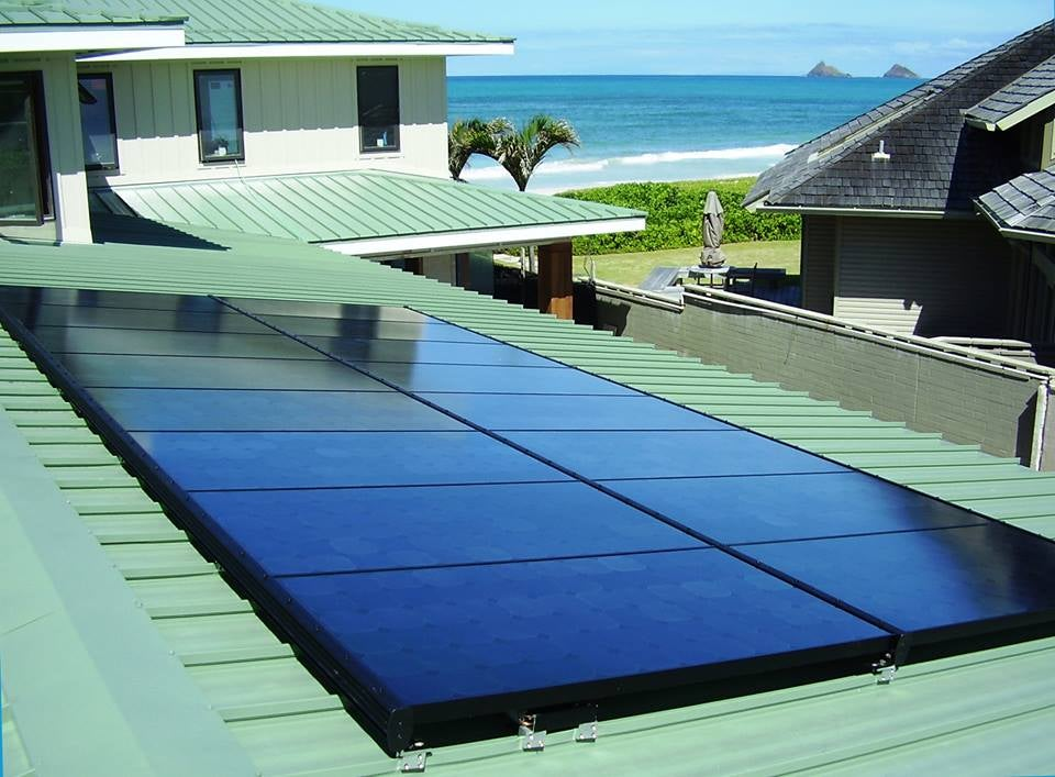 Solar on a rooftop in Hawaii. Courtesy HECO