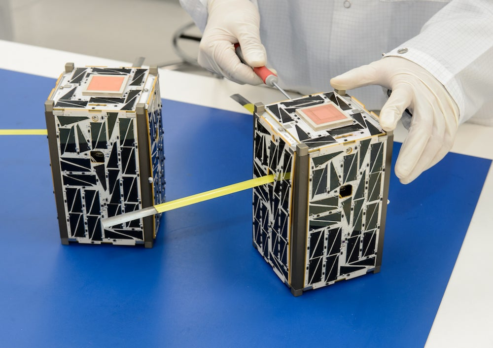 Solar-powered micro-satellites. Courtesy NASA