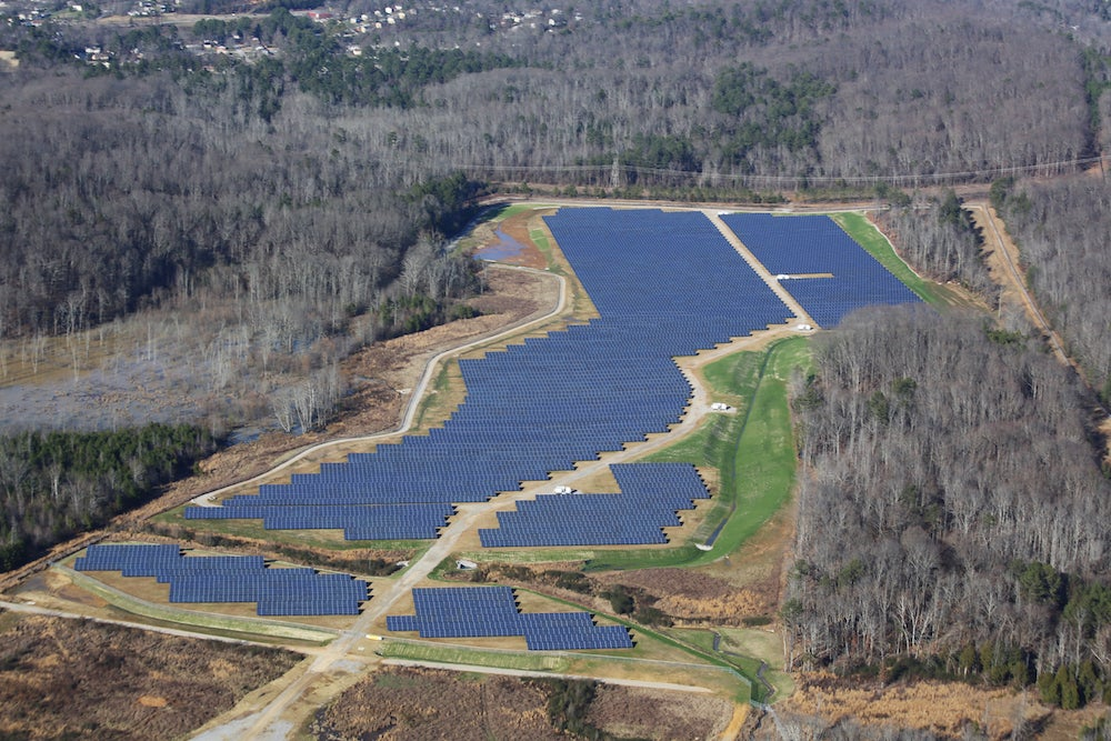 Silicon Ranch's Volkswagen Chattanooga Solar Farm. Courtesy Silicon Ranch